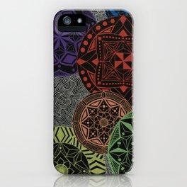 Rainbow Maze iPhone Case