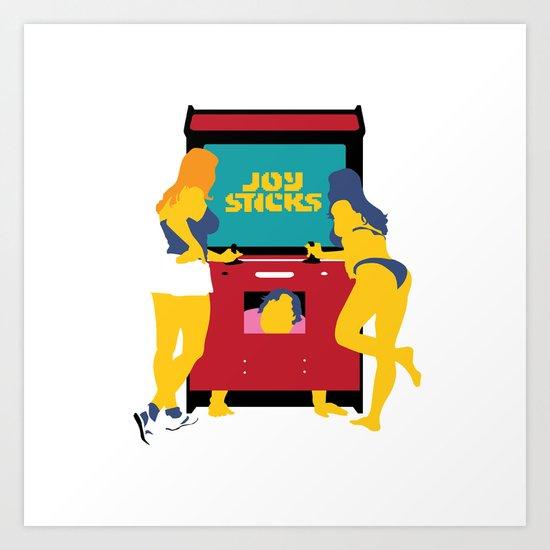 Joy Sticks Art Print