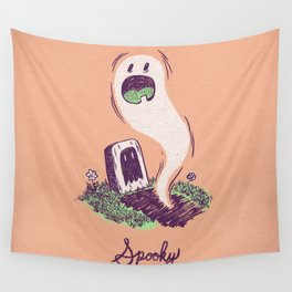 Spooky Ghostie Wall Tapestry