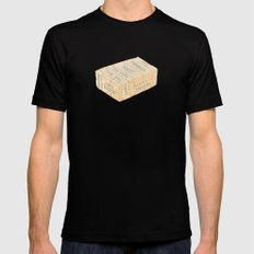 Tofu Cuts Black MEDIUM Mens Fitted Tee