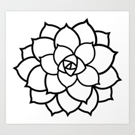 Simple Succulent Art Print