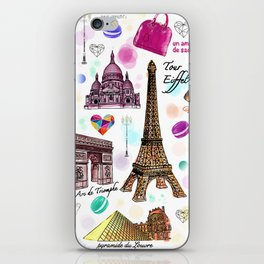 Voyage à Paris (Watercolor) iPhone Skin