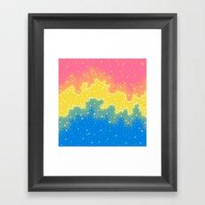 Pan Pride Flag Galaxy Framed Art Print