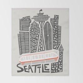 Seattle Cityscape Throw Blanket