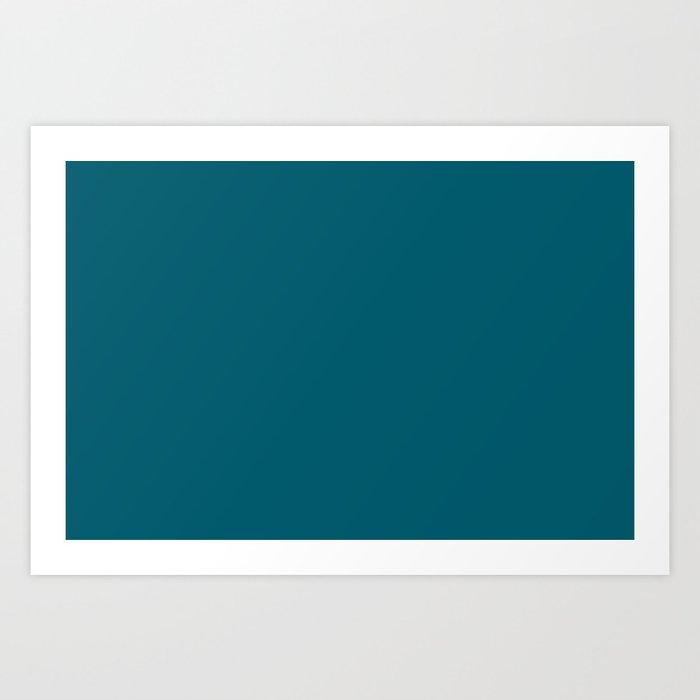Best Seller Sherwin Williams Trending Colors of 2019 Oceanside (Dark Aqua Blue) SW 6496 Solid Color Kunstdrucke