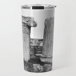 Ruined columns at the Parthenon Travel Mug