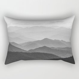 Forest Fade - Black and White Landscape Nature Photography Rectangular Pillow