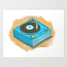 Record player of my childhood Art Print