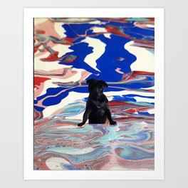 Melt pug Art Print