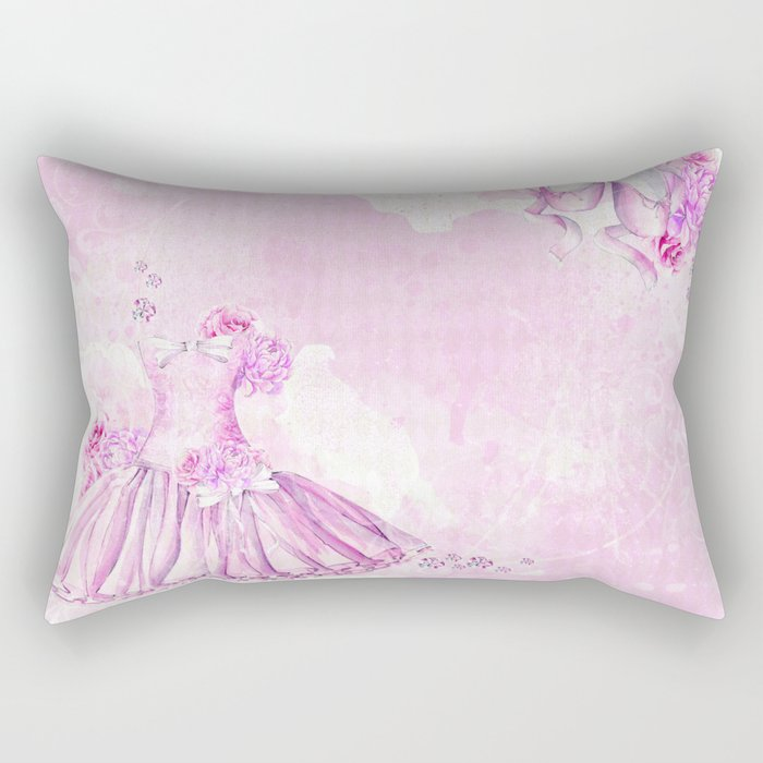 Ballerina #3 Rectangular Pillow