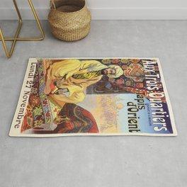 Vintage Paris Oriental Carpets store advertising Rug