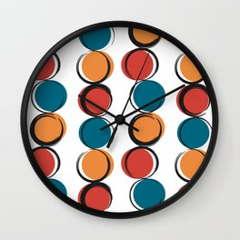 abstract modern pattern background with colorful grunge circles Wall Clock