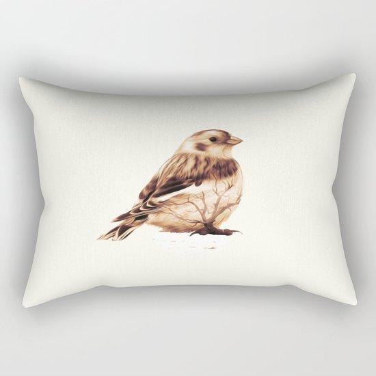 Snow Bunting Rectangular Pillow