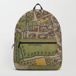 Vintge Map of Oxford England (1605) Backpack