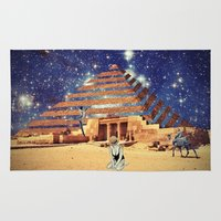 pyramid Area & Throw Rugs featuring Pyramid by Cs025
