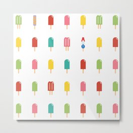 Popsicle Pattern - Retro Random Pops #861 Metal Print