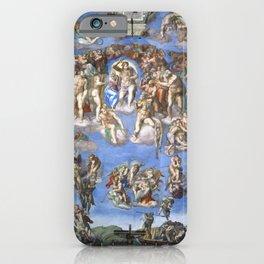 """Michelangelo """"Last Judgment"""" iPhone Case"""