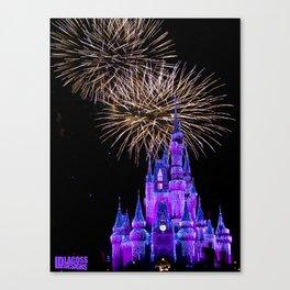 Magic Kingdom - 2 Fireworks Canvas Print