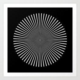 Op Art Flash (Minimalist Design) Art Print