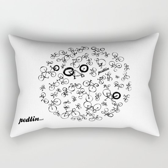 Bicycle World Rectangular Pillow