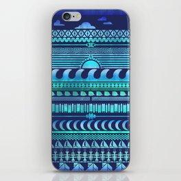Aqua   Tribal iPhone Skin