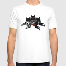 Cat Feast SMALL Mens Fitted Tee White