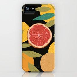 Black Grapefruit iPhone Case