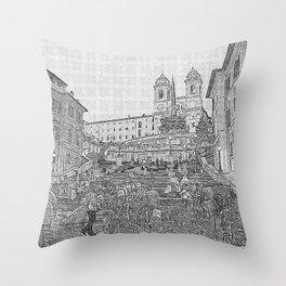 Piazza di Spagna Throw Pillow