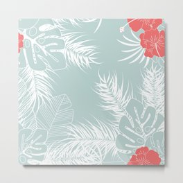 Tropical pattern 041 Metal Print
