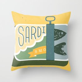 Sardines in a can Throw Pillow