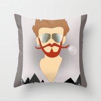 the dude Throw Pillows featuring Dude by DM Davis