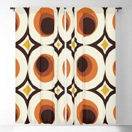 1970's Orange Mid-Century Modern Circle 1 Blackout Curtain