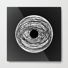 Eye Of The Storm - Abstract, black and white, minimalistic, minimal artwork Metal Print