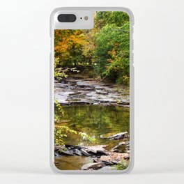 Fall Creek Landscape Clear iPhone Case