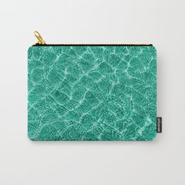 blue green clear water with shadows of small waves. pool. lagoon. poster of  pastel color. Carry-All Pouch