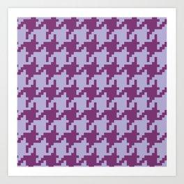 Houndstooth - Purple Art Print