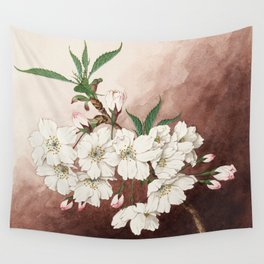 Jyonioi - Upper Fragrance Cherry Blossoms Wall Tapestry