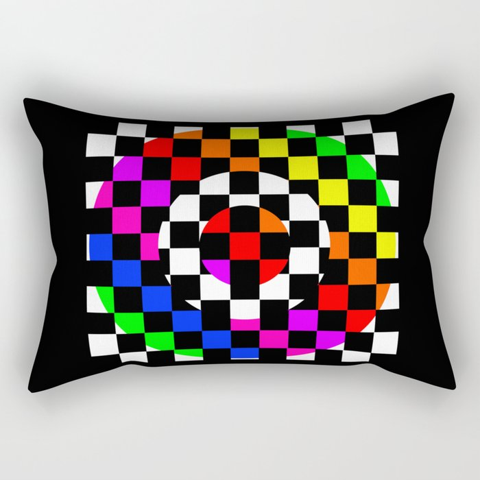 Triggle   Colorful Secret Geomoetry   Play Rectangular Pillow