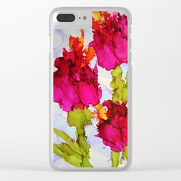 Fresh Tulips Clear iPhone Case