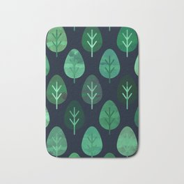 Watercolor Forest Pattern #9 Bath Mat