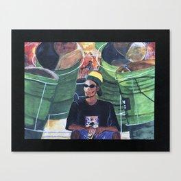 Trini Steel Pan Canvas Print