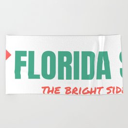 Florida Scarf Logo Beach Towel