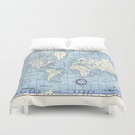 A Really Nice Map Duvet Cover