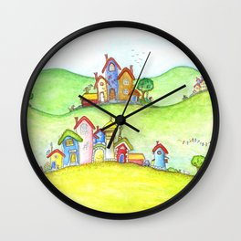 The hills Wall Clock