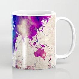 world map city skyline galaxy 2 Coffee Mug