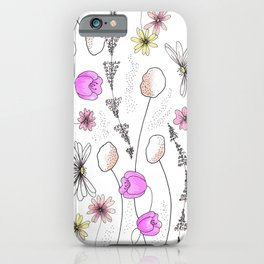 Whimsy Flowers iPhone Case
