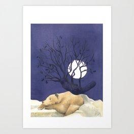 Sotto la quercia. Under the oak Art Print