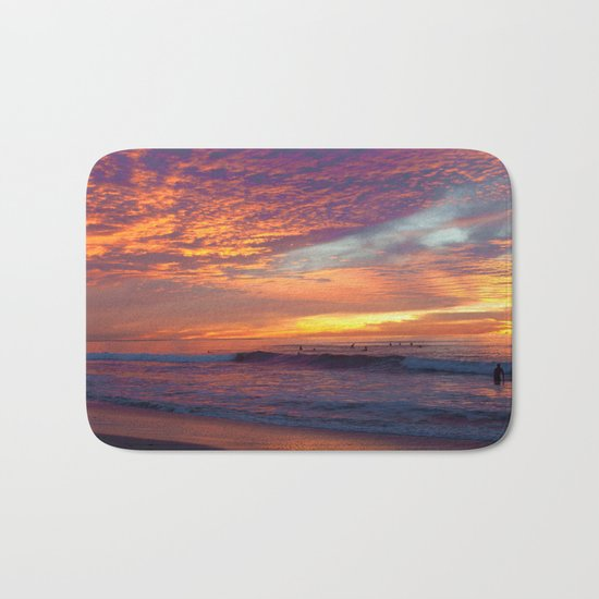 Pink Sunset Bath Mat