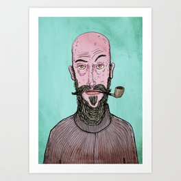 The Hipster Art Print
