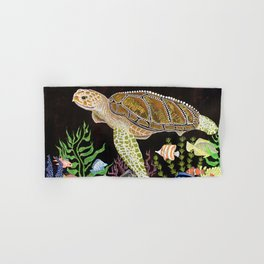 Sea Turtle, Reef Fish Hand & Bath Towel